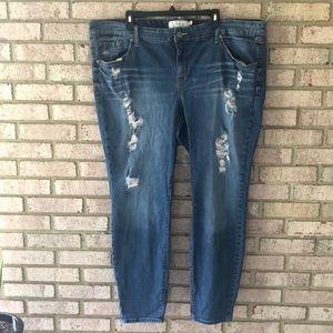 Torrid Destroyed Jeans Size 24